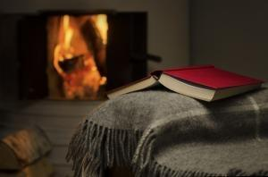 Book in front of an open fire - plan your downtime